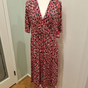 Vince Camuta 3/4 Vneck Aline Dress NWT